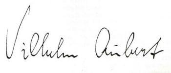 Vilhelm Aubert signatur