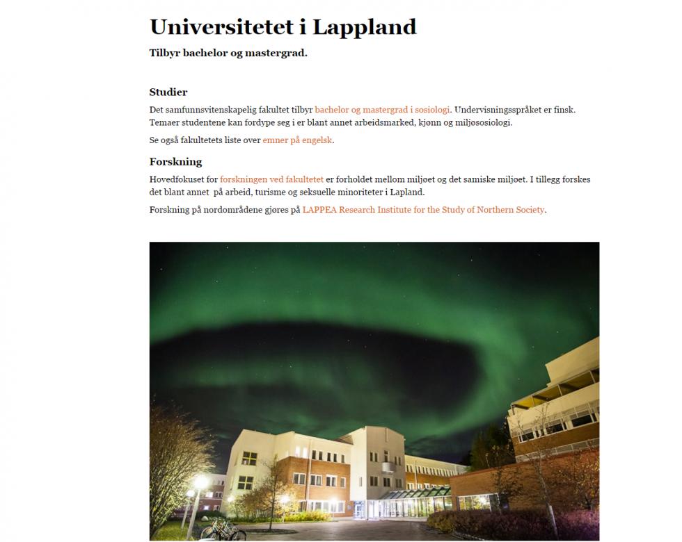 Universitetet i Lappland