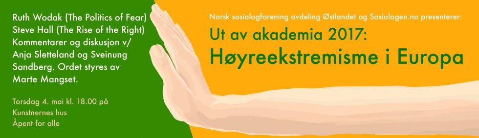 Banner til Ut av akademia