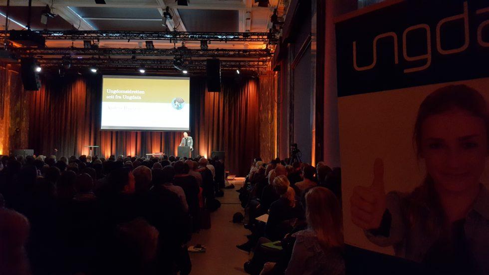 Bilde av salen fra Ungdata-konferansen ved OsloMet