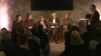 Panel og ordstyrer på seminaret på MESH i Oslo, 31.oktober 2018.