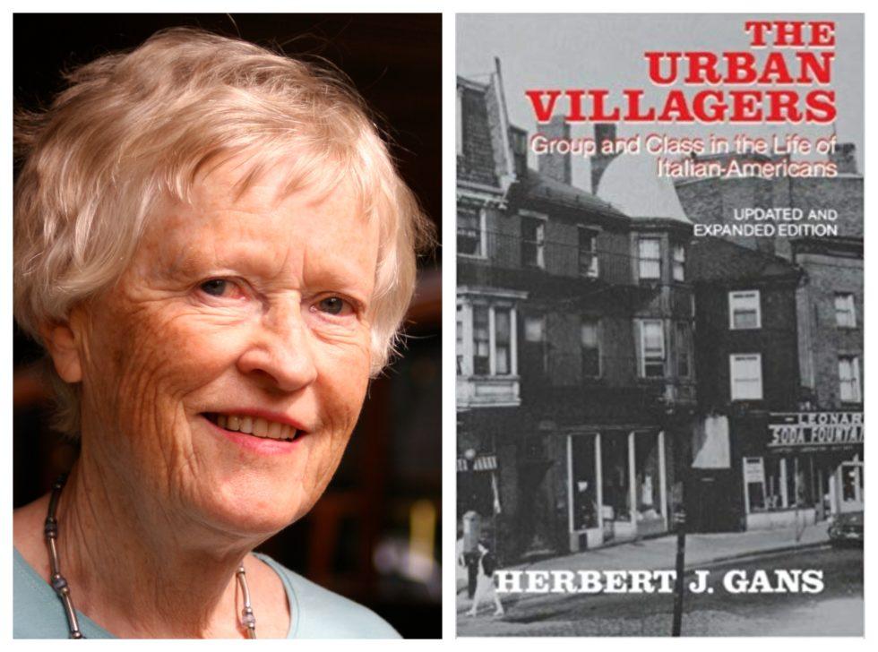 Portrett av Wetlesen chou og omslaget av Gans Urban villagers: Group and Class in the village of italian americans